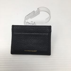 Burberry Sandon Check & Pebbled Leather Card Case